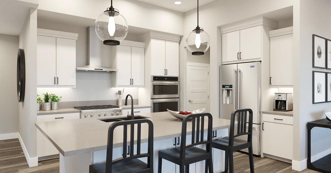 open floorplan townhomes for sale with covered deck