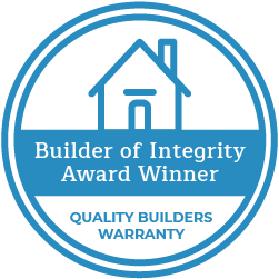 quality builders warranty builder of integrity award winner logo